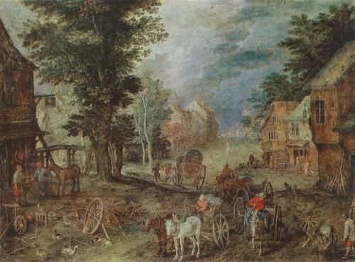 Ян Брейгель Бархатный. Пейзаж 1603. 1568—1625. Медь, масло. 0,17 х 0,24