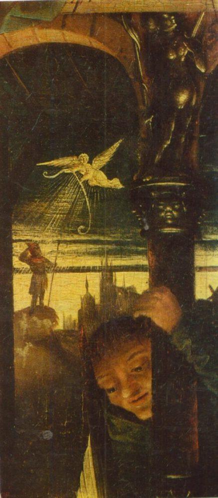 Неизвестный Нидерландский мастер картина Рождество. Фрагмент