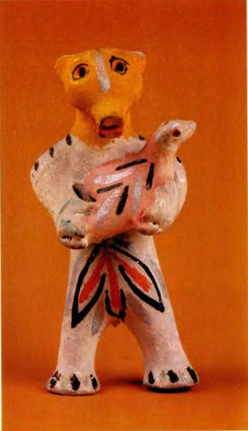 И.В. и Е.А. Дружинины. Медведь с птицей. 1940