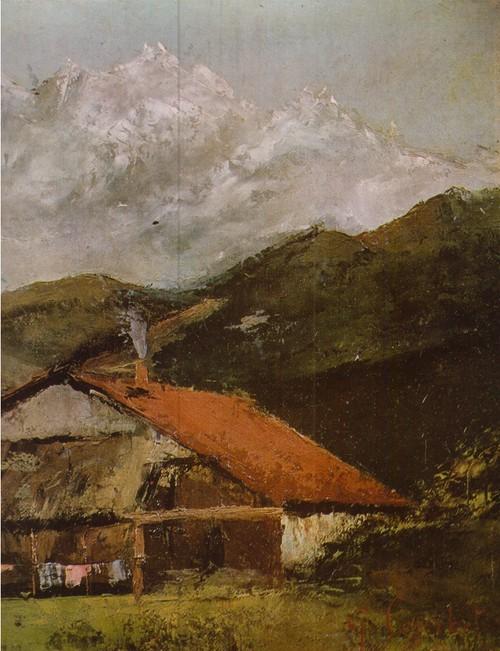 Гюстав Курбе Хижина в горах. Холст, масло. 0,33 х 0,49
