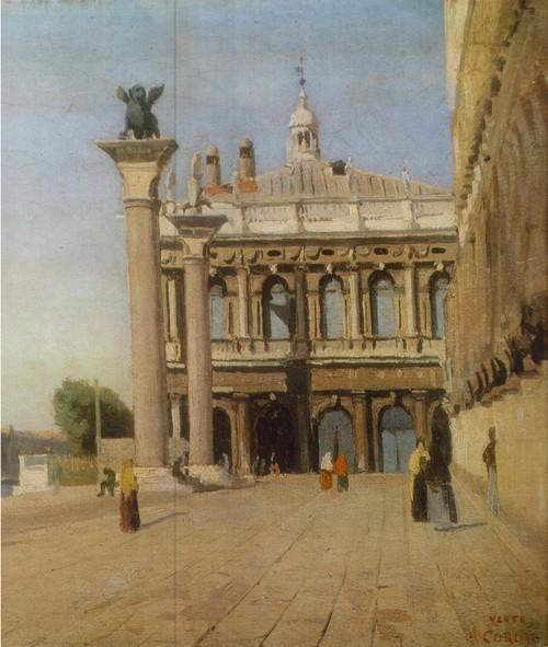 Жан-Батист Камиль Коро Утро в Венеции. Холст, масло. 0,27 х 0,40