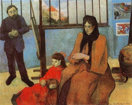 Портрет семьи «Семья Шуффенекера» 1889-Париж Музей д Орсе