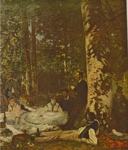 Клод Моне Завтрак на траве 1866 Холст, масло. 1,30X1,81