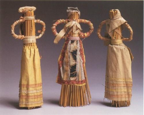 Куклы из соломы. Конец XIX века, Тамбовская губерния.