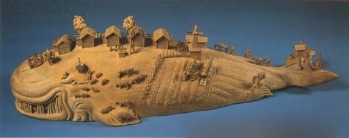 Чудо-юдо рыба-кит. 1947. А.Д. Зинин. Деревня Богородское, Московская область.