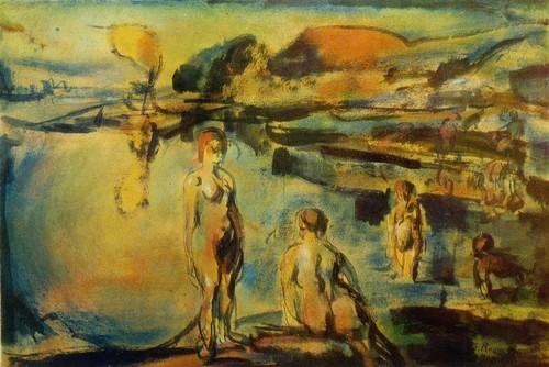Жож Руо Купание в озере