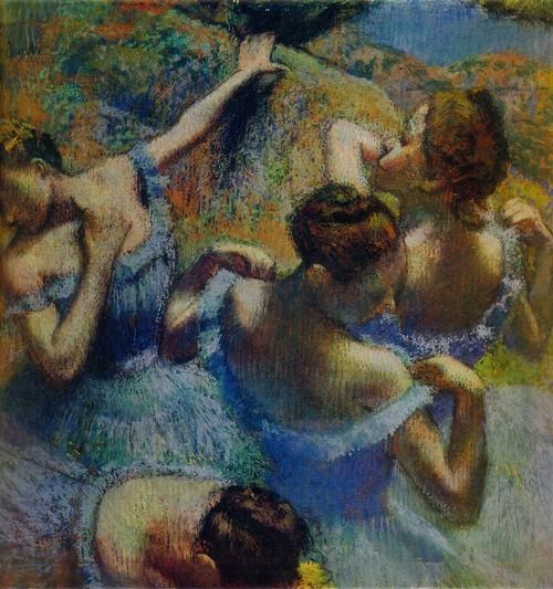 Эдгар Дега Голубые танцовщицы. 1898—1899. Бумага, пастель. 0,64 х 0,65
