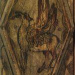 Резное расписное дерево