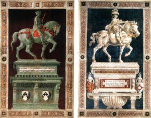 Памятник Джованни Акуто слева, справа Памятник дель Кастаньо Никколо да Толентино.