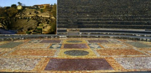 Фурвьер, Галло-римский театр, мозаика Одеона