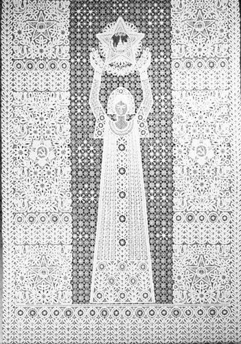 В. Н. Ельфина, Г. Н. Мамровская. панно праздник. 1975