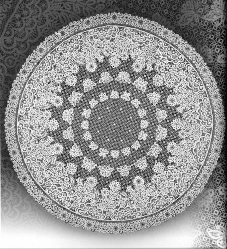 В. Н. Ельфина. Скатерть цветы полевые. 1986 год