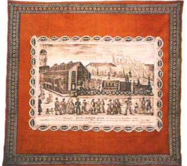 Платок ситцевый. Москва. Мануфактура Глинскаго. 1851 год