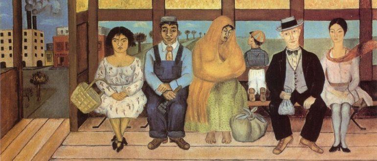 """Frida Kahlo. Painting """"Bus"""", 1929"""