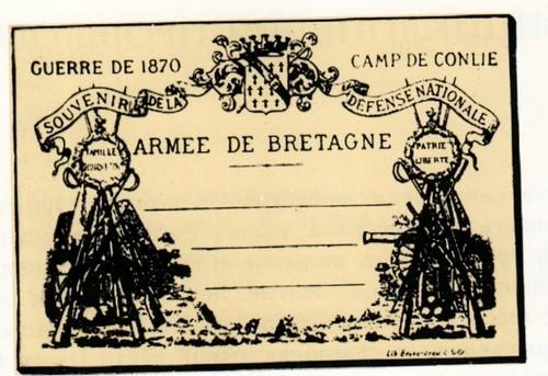 Франция. первая иллюстрированная открытка Леона Беснардо. 1870
