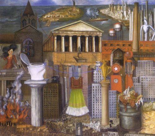 """Фрида Кало. Картина """"Здесь висит мое платье"""", 1933 год."""