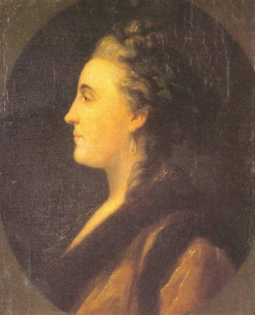 Императрица Екатерина II. Портрет императрицы Екатерины II в профиль, художник неизвестен
