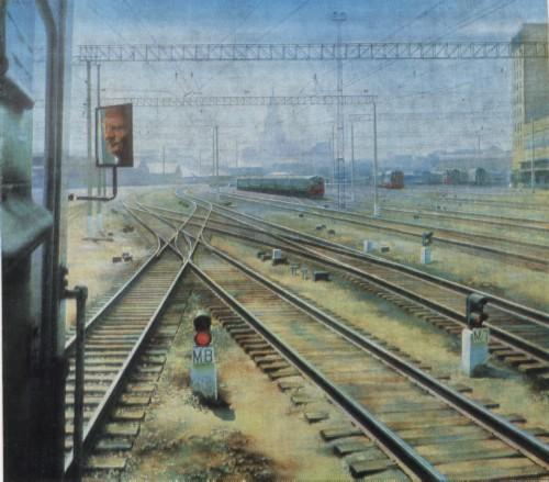 А. Н. ПЕТРОВ Род. 1947. Москва Москва. Казанский вокзал. 1981 X., м.