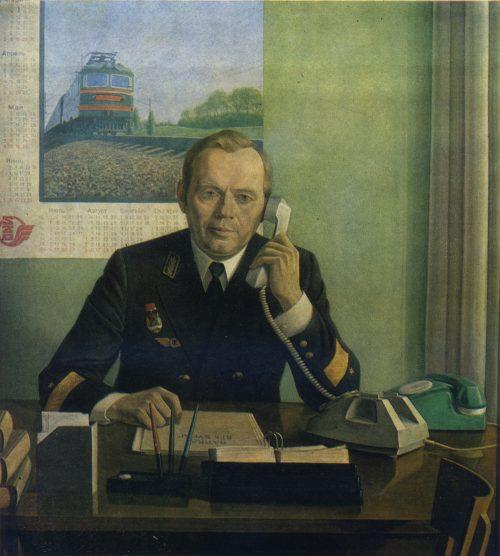 Железнодорожная тема в советском искусстве. В.С. ЧЕКМАСОВ. Род. 1940. Петрозаводск Почетный железнодорожник,