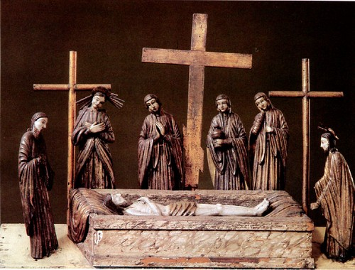 Положение во гроб. Липа, сосна левкас, темпера, позолота, посеребрение. XVIII век