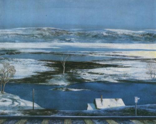 Я. Ю. КРЫЖЕВСКИЙ. Род. 1948. Вологда Весна земли. 1980 X., м.